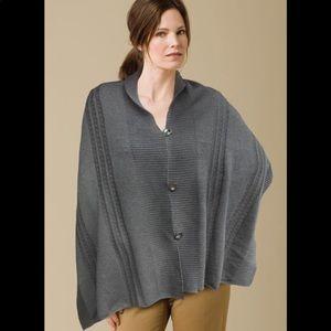 ZAZOU Un sweater in rosewood acrylic shawl